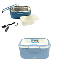 Blue Portable 1.5 L 35W Car Electric Heating Lunch Box Food Warmer Container