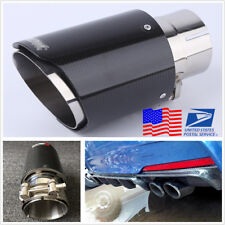 63mm Car Exhaust Muffler Silencer Tail End Pipe Tip Anti-UV Corrosion Resistant