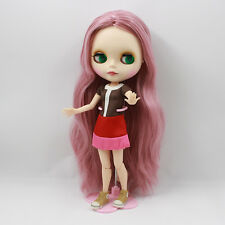 Blythe Nude Doll from Factory Matte Face Jointed Body Pink Hair In The Middle