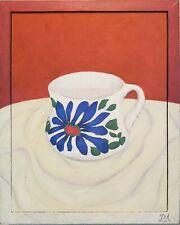 PILAR AGUERO California Art ORIGINAL Oil CUP Painting Signed EXCELLENT