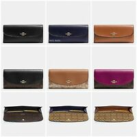 New Coach F54022 F54008 Soft Wallet Signature Crossgrain Leather