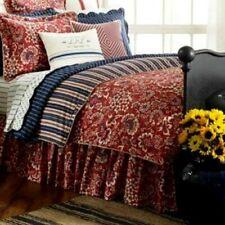 Ralph Lauren Villa Martine Red Floral Twin Bed Skirt Dust Ruffle