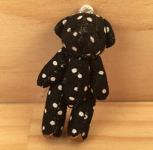 "DOTTY THE BEAR ""Ebony Black"" Sweet Miniature Teddy Bear Tiny Soft Toy Friend"