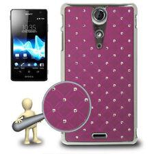 Hardcase Bling Diamond für Sony xperia TX Schutzhülle in lila Etui Hülle Case