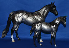 Peter Stone~2002~Obsidian~Ideal Stock Horse & Weanling Set~ISH~LT 174 Sets~WOW