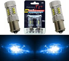 LED Light 80W 1156 Blue 10000K Two Bulbs Rear Turn Signal Replace Show Use JDM