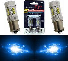 LED Light 80W 1156 Blue 10000K Two Bulbs Rear Turn Signal Replace Show Use JDM