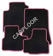 Für Renault Espace 5 Sitzer Bj. ab 04.15 Fußmatten Velours schwarz mit Rand pink