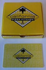 CPK California Pizza Kitchen New Gift Card with mini pizza box sleeve NO $