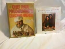 2 Vintage Cookbooks Oprah's Chef & Paul Prudhomme- Cajun Cooking & Diet Gourmet