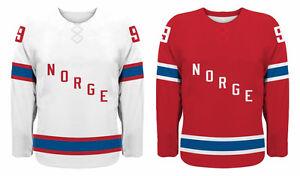 NEW 2021 Team Norway Norge Hockey Jersey NHL Zuccarello Thoresen Tollefsen