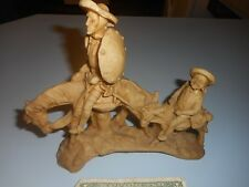 "Vintage Don Quixote And Sancho Figure Mexico 9"" by 8 3/4"" Resin?"