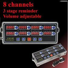 8 Channel Digital Timer CAL-8B Burger Basket Shaking Timing 3 Stage Reminder