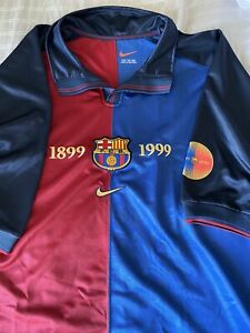 Rare - Vintage FC Barcelona 100th Anniversary Nike Home Jersey 2XL New No Tags
