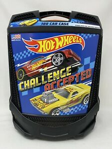 HOT WHEELS: Challenge Accepted Black Car Carry Case (on Wheels)! NEW