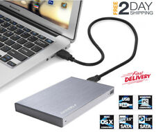 "Funda Carcasa Enclosure para Disco Duro USB3.0 SATA Externo 2.5"" SSD HD (Gris)"