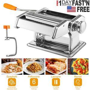 Stainless Steel Pasta Lasagna Spaghetti Tagliatelle Ravioli Maker Roller Machine
