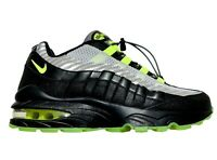 Nike Air Max 95 HZ Black/Volt-Gunsmoke Running Shoes BQ4747 001 Sz 6Y