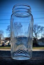 """Vintage 1930s Art Deco Food Jar Beautiful Lines 5"""" Tall DUG"""
