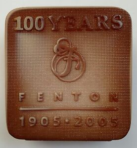 Fenton Chocolate Glass Logo 100th Anniversary Limited Edition 2005 13/300 Signed