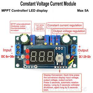 5A MPPT Solar Controller DC CCCV Step-down Converter LED Driver Battery Charger
