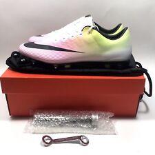 NIKE Mercurial Vapor X SG-PRO White/Volt/Pink Soccer Cleats Sz 13 (648555-107)