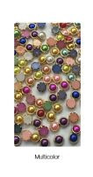 3D Nail Art Decoration Gold Metal Edge Pearl Rhinestones Beads Gems Studs