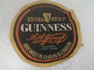 Guinness Extra Stout Circular Bar Towel Man Cave Used