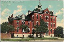 St. Mary's Hospital in Emporia KS Postcard 1911