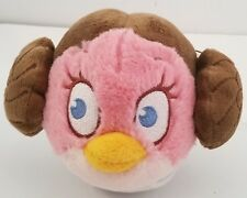 "Angry Birds Star Wars Princess Leia 13"" Inch Plush Pink Bird Carrie Fisher 2012"