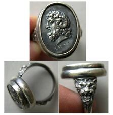 PCW-SR018-Zeus Amon-A custom-made Sterling Silver Cameo Ring.