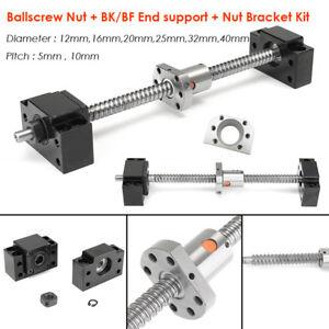 Rolled Ball Screw SFU Ballscrew + Ballnut BK/BF End Support RM1204-4010 Full Kit