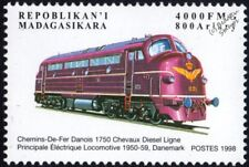 DSB (Danish Railways/Denmark) Class MY No.1121 Diesel-Electric Train Stamp #1