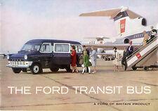 Ford Transit Minibus Mk1 1966-67 UK Market Sales Brochure SWB LWB