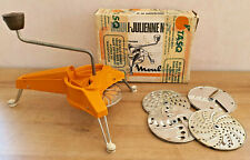 Ancien Mouli-Julienne N°2 Moulinex 5 disques Orange Vintage