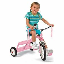 Radio Flyer 12 in. Girls Classic Dual Deck Tricycle - Pink, 31.5L x 24.5W x 21