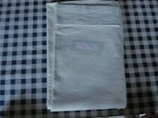 French Vintage, Metis Linen Cream Flat Sheet, Cream Bedding, Double Bed Sheet