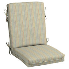 Hampton Bay Ticking Stripe Center Welt Outdoor Chair Cushion