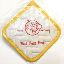 Reddy Kilowatt Magnepad Pot Holder Utilities Promo Vintage 1950s West Penn Power