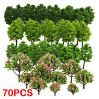 70 pcs Model Pine Trees Pines For HO O N Z Scale Model Railroad Highway Layout