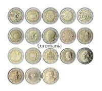 Grecia 2 Euros - Todas las Monedas Conmemorativas de 2004 a 2018 disponibles