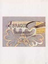 "1989 VINTAGE ""G. BRAQUE MAEGHT"" HEARTS MOURLOT MINI POSTER COLOR Art Lithograph"
