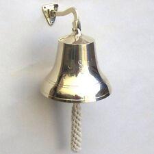 """9"""" US. NAVY BRASS BELL ~ SHIP BELL ~ REPLICA BELL~ DINNER BELL ~ NAUTICAL DECOR"""