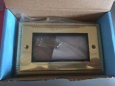 HERITAGE BRASS Flat Plate 4 Module frame 4 Gang Brass Gold PL G1694BK (192)