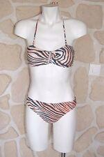 maillot de bain neuf motif tigre taille XL marque Tot Sol