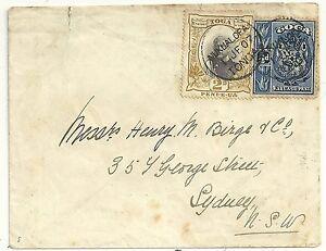 TONGA NUKUALOFA COVER 2d & ½d TO HENRY BIRGE & Co SYDNEY AUSTRALIA 1907