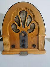 Vintage Detrola FM/AM Wood 1950's Reproduction Radio Cassette Player Model KM327