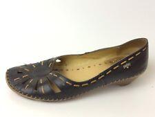Pikolinos Womens 7 M EU 37 Moc Toe Sandal Cut Out Black Leather Heel Ballet Shoe
