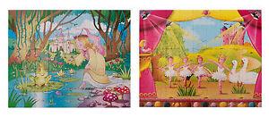 GRAFIX Girls Fairytale Jigsaw Puzzles Swan Lake & Frog Prince 45 Pcs Family Fun