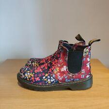 Dr Martens Victorian Floral Chelsea Ankle Boots Banzai FC Size UK 5 - RARE